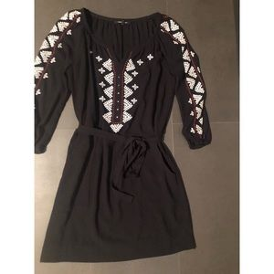 Nanette Lapore black mini dress with belt